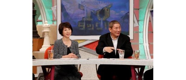 激論を交わす阿川佐和子とビートたけし(写真左から)