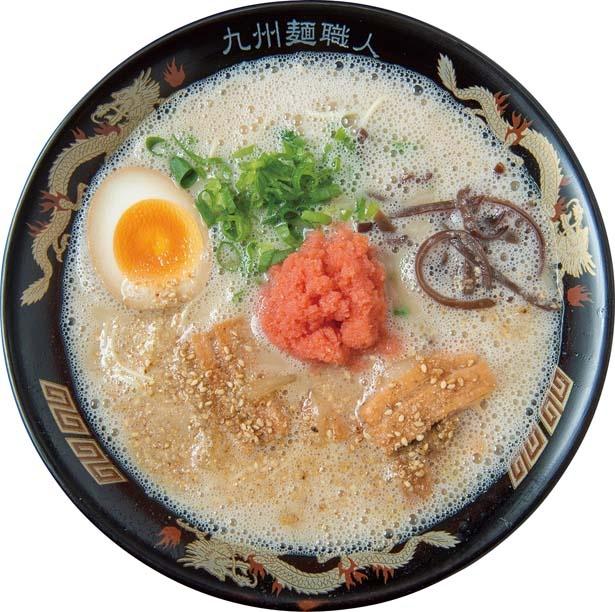 銀水ラーメン 辛子明太子入 (980円)。九州を凝縮した進化版博多ラーメン/九州ラーメン 銀水
