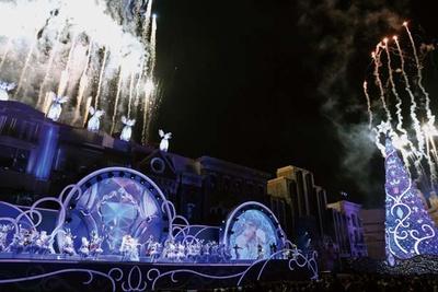 オーロラの光が降り注ぐ新演出などクリスタルの世界を壮大に表現!/ユニバーサル・スタジオ・ジャパン