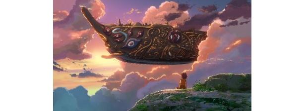 空を飛ぶ不思議な船も登場する