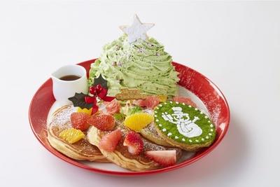 定番商品がクリスマス仕様になった「ミックスフルーツのグリーンマウンテンパンケーキ」