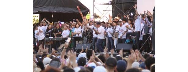 4/10に復興支援で行われた「what a wonderful world in OKINAWA~がんばれ東北!がんばれ日本!」