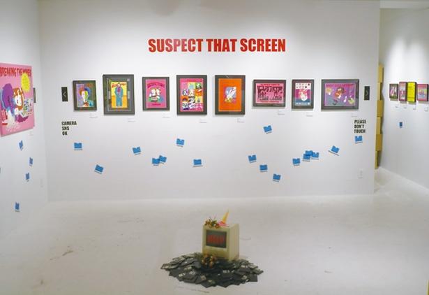 TAG STA / YUGO氏の個展。インターネットと現実をテーマにした作品で、会期中はオリジナルグッズも販売した