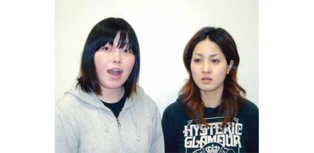 尼神インター(よしもとクリエイティブ・エージェンシー)。左・誠子、右・渚