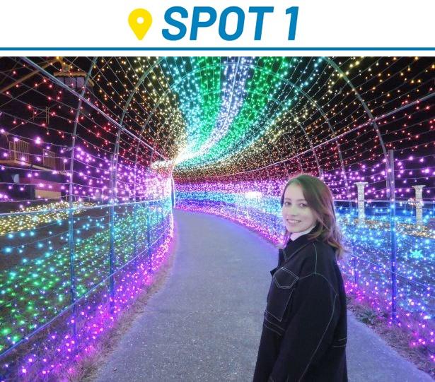 約300万球のイルミネーションの光に彩られた「東京ドイツ村」を訪れた