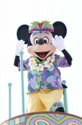 ハワイアンスタイルのミッキー