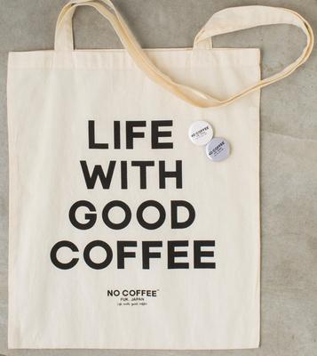 NO COFFEE / 「スーヴェニアトートバッグ」(1200円)