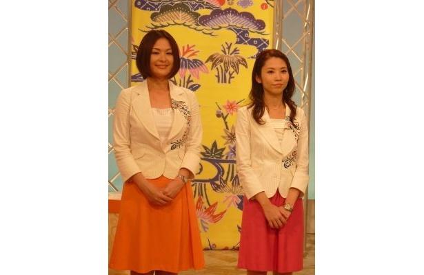 各局の地デジ親善大使が沖縄の紅型をあしらった制服に身をまといPR