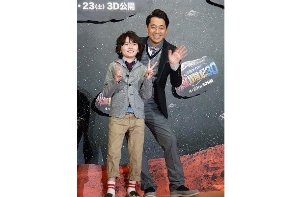 天才子役・濱田龍臣と、実生活で父親でもある設楽統(写真左から)