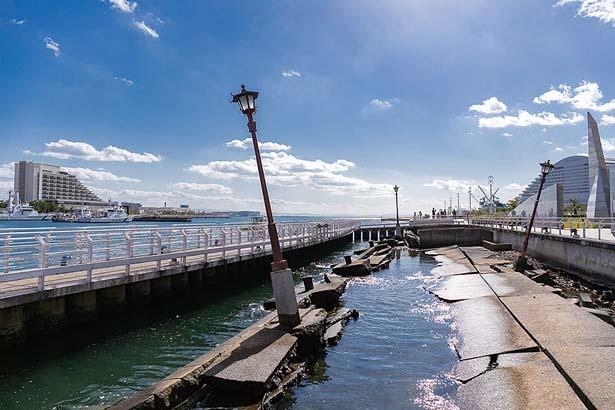 地震のすごさを物語る、貴重な遺構/神戸港震災メモリアルパーク