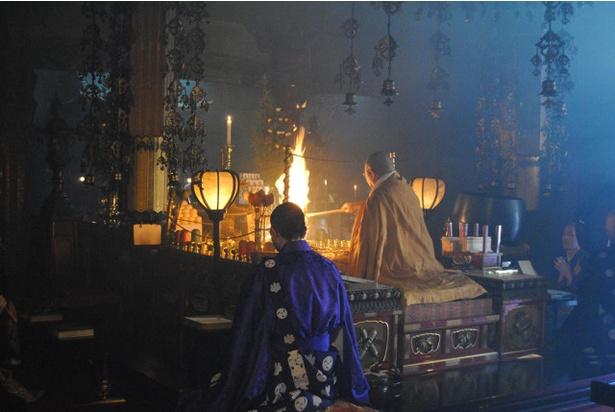 呑山観音寺初詣 /  正月3日まで新春の護摩焚きが執り行われる