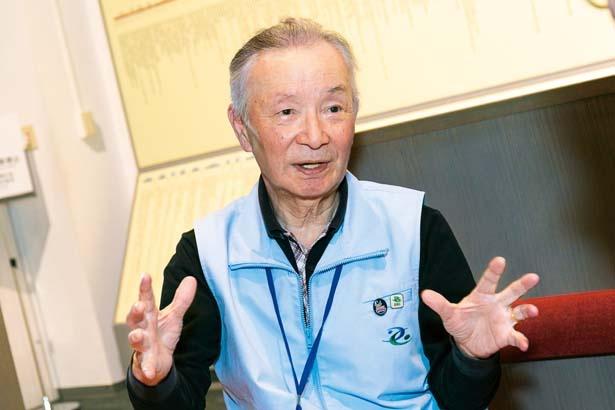 芦屋市役所建設部部長(当時の役職)の谷川三郎さん(83)