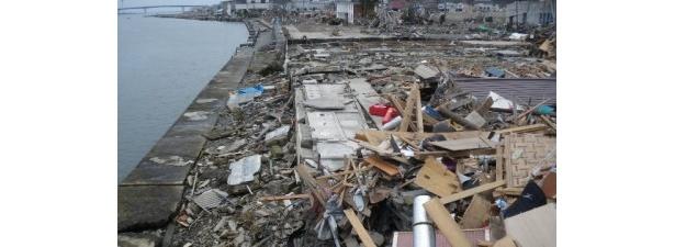 【写真】押し寄せた津波に飲み込まれ、跡形もなく流されてしまった岡田劇場