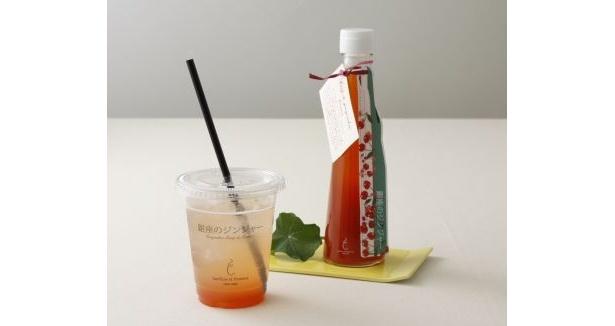 生姜を使ったシロップが人気の「銀座のジンジャー」では、「さくらんぼ・ジンジャーシロップ」(840円/4月中旬~5月中旬)を販売