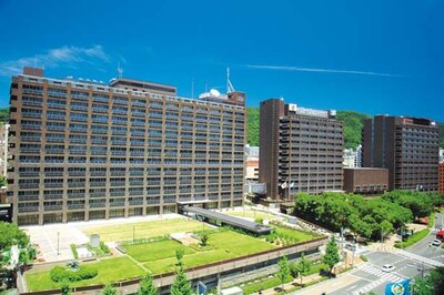 現在の県庁舎周辺。左から1号館、2号館、議場棟、3号館/兵庫県庁