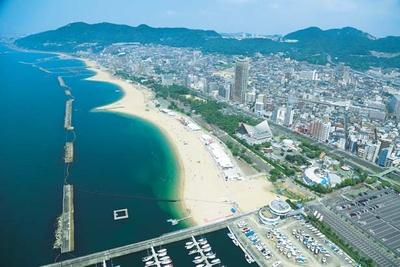 現在の海浜公園と須磨海浜水族園周辺