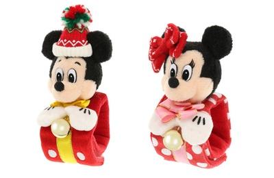 【写真を見る】レトロな雰囲気がかわいい!ミッキーマウスとミニーマウスの「ぬいぐるみバンド」(各1700円)
