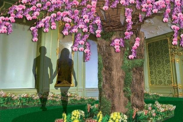 「大胡蝶蘭展」に今年初登場したスポット「蘭でお花見」のイメージ