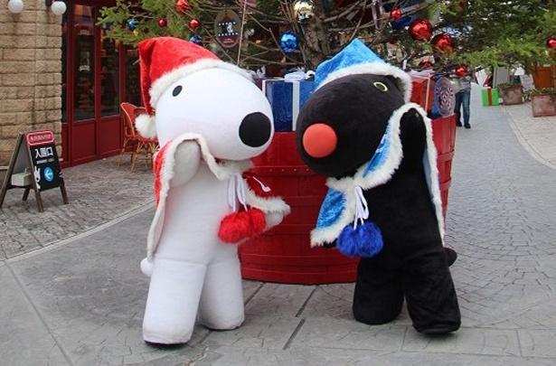土日祝日はクリスマスマントでおめかししたリサとガスパールに会える!