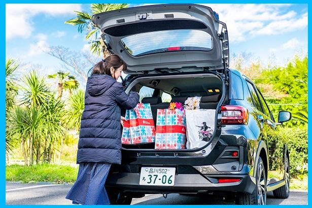 日々のちょっとした荷物から旅行などの大荷物もしっかり積める、コンパクトSUVクラストップレベルの大容量ラゲージを実現