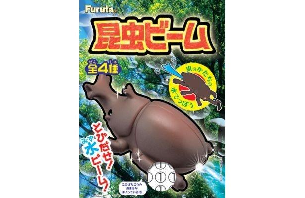 4/18に発売されたフルタの玩具菓子「昆虫ビーム」(157円)