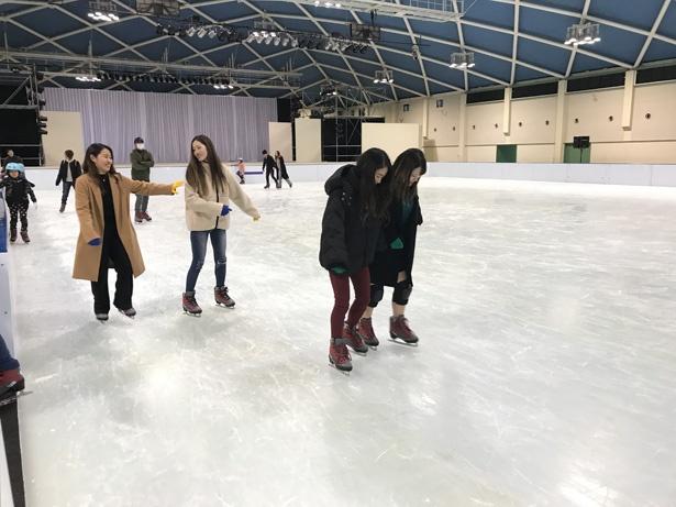 スケートリンクは24m×36mの広さを誇る