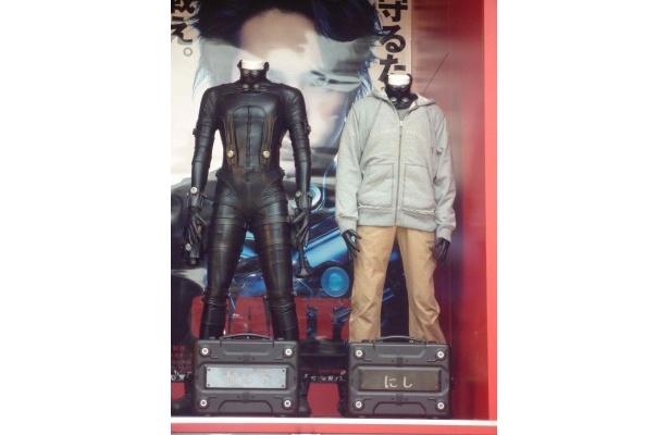 トレーラー内で展示されていた、GANTZスーツや衣装