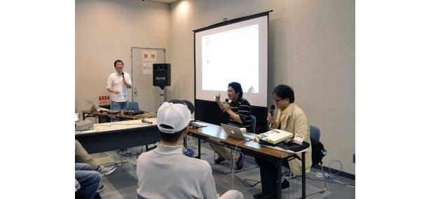 人気ポッドキャスト番組「Apple News Radio ワンボタンの声」の公開収録も実施。司会進行の山村和久氏に加え、コメンテーターの大阪電気通信大学の魚井宏高教授や松尾さんらが楽しいトークを繰り広げた
