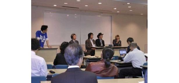 シンポジウム「これからの神戸とIT」。兵庫県立大学大学院教授の力宗幸男氏らが本イベントを締めくくるテーマで意見を述べた