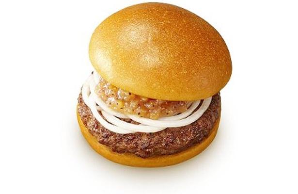 ロッテリアの「絶品チーズバーガー」のシンプル版ともいえる新バーガーが登場。今回も、バンズ、パティ、タマネギ、ソースのみという、ごまかし一切ナシのこだわりバーガーだ。