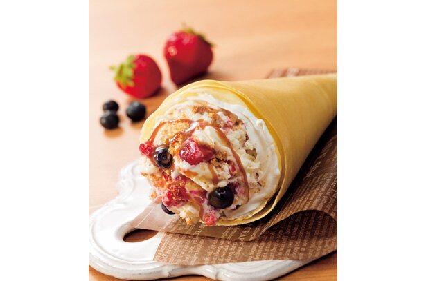 「コールドストーンクレープ チーズケーキ」(611円) / COLD STONE CREAMERY