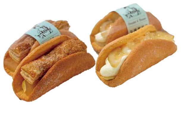 大阪レモンのオムレット(右、324円)、林檎のオムレット(左、324円)/丸福珈琲店 Omelet&Busse