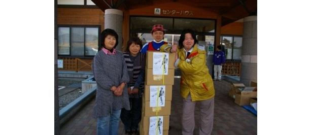 【写真】岩手県陸前高田市の被災者の方々へ届けられた温泉卵
