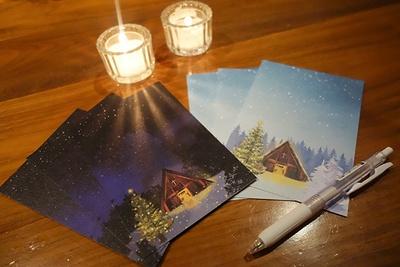 教会の隣に立つ「牧師の執務室」では、期間中毎日、想いを送る「クリスマスレター」を実施。オリジナルポストカードが無料で配布されている。期間中毎日、18:30~21:00