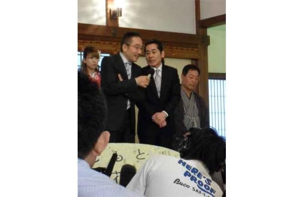 中田カウス・ボタン(中央)「久しぶりに京都の劇場に戻れて嬉しい限り」