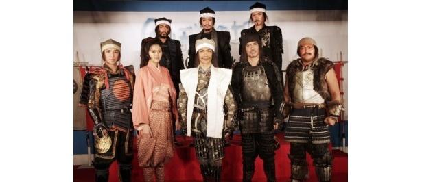 『のぼうの城』出演のキャストたち。原作は和田竜の同名小説