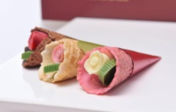 【写真】斬新なビジュアルが目を引く食べられるバラのミニブーケなど、おすすめ手土産がズラリ
