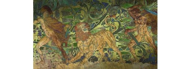 オリュンポスの外で見つけた壁画の意味は?
