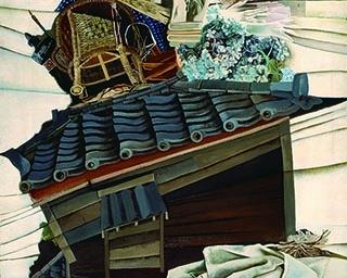 桂ゆき《積んだり》1951年、福岡市美術館蔵
