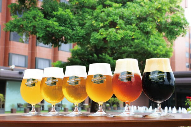 ホテル敷地内の「城山ブルワリー」で醸造するクラフトビールは、館内の各レストランで販売される。風呂上がりにおすすめ(600円~) / SHIROYAMA HOTEL kagoshima
