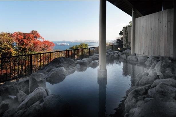 高台から海を望む。別府湾×露天といえばココ! / 神崎温泉 天海の湯