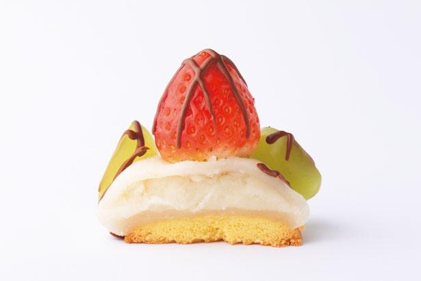 タルトをイメージした個性派イチゴ大福!チョコいちごクッキー大福(360円)/菓匠あさだ 淡路店