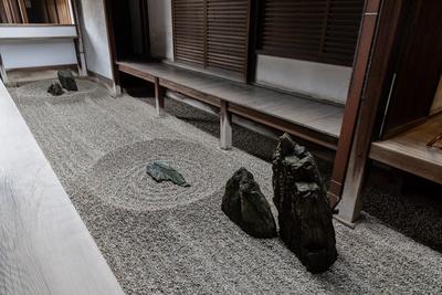 龍源院の石庭、東滴壺。