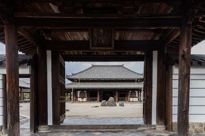 臨川寺の中門から見た景色