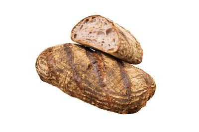 【写真を見る】クルミのカンパーニュ(780円、ハーフサイズ390円)。ライ麦+小麦4種類を使ったハード系 / 黒門ロヂウラ ベーカリー