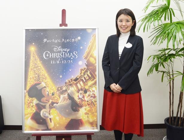 東京ディズニリゾートのクリスマスイベントの歴史について語ってくれた、オリエンタルランド・リゾートクリエイト部 石原由佳さん