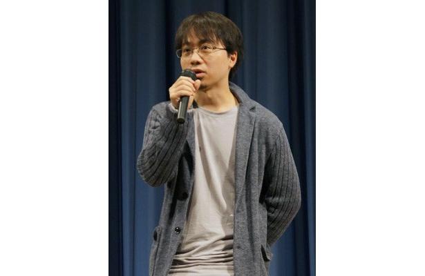 【写真】原作・脚本・監督を務めた新海誠。「誰かに見てもらうためにこの2年間ずっと作ってきた」と、作品が完成したことにほっとした様子