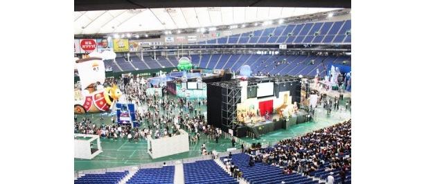 東京ドームをいっぱいに使った会場