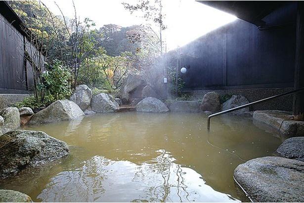 にごり湯の露天風呂 / 夷谷温泉