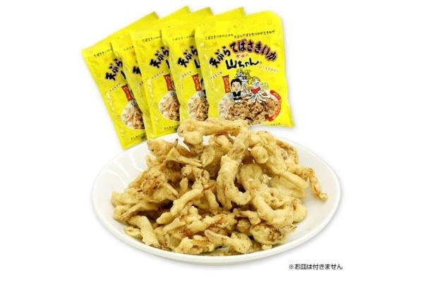 手羽先風味のさきいか「天ぷらてばさきいか」(210円/1袋)